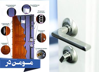 چهارچوب، لولا، قفل و دستگیره درب ضد سرقت